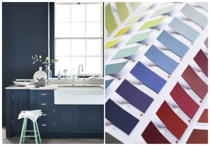 Hick's Blue 208 & Green Verditer 92 | Little Greene Colour Card