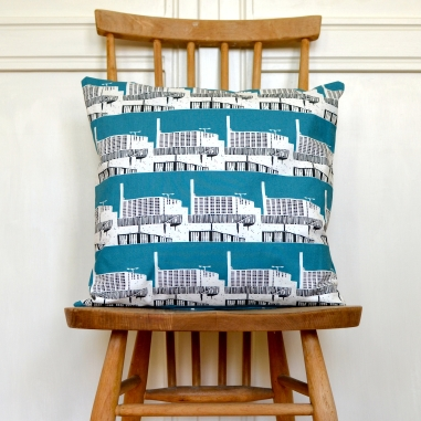 Park Hill Bold Teal Cushion